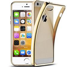iPhone 5s / SE Luxury Schutzhülle Silikon Hüllen Case Chrom Cover Platin Gold