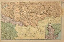 1908 MAP SOUTH EAST AUSTRIA HUNGARY ROMANIA WALACHIA BOSNIA TOLNA TRANSYLVANIA