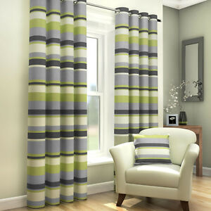 Little Flying Scotsman Curtains Green Train Cream Curtains With Tie Backs