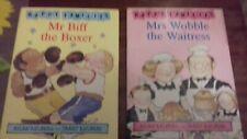 happy families books x2-MRS WOBBLE & MR BIFF