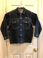 f45e5fdab3e5 Fubu Platinum RUDY Denim Jacket Blue Mens Size Large RN58372