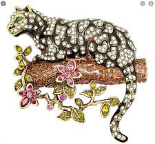 HEIDI DAUS Natural Instinct Ocelot Leopard Pin RET $189.95 CUTE CRITTER!!