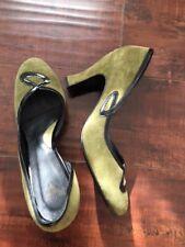 John Fluevog women's size 10.5 green suede shoe - new, never worn