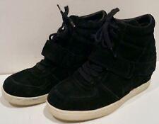 ASH Kids Black Suede Rubber Sole Hidden Wedge High Tops Sneakers Trainers EU36