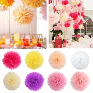 [EL] 20 Pom Lantern Flower Ball Family Hanging Tissue Paper Pom For Wedding