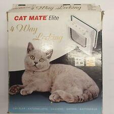NEW Cat Mate Elite 4 Way locking WHITE cat flap
