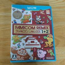Famicom remix 1+2 Nintendo Wii U Japan Import Good condition