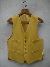 Traditional Ross Wool Waistcoat by Gurteen – 38-52in – UK Made - Lemon Yellow