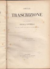 DIRITTO COVIELLO NICOLA DELLA TRASCRIZIONE 1907 EUGENIO MAGHERI NAPOLI