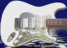 STRAT HSS ETCHED CHROME METAL Steel Pickguard Fender Stratocaster Scratchplate