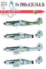 EagleCals Decals 1/72 FOCKE WULF Fw-190D Fighter JG 54 and JG 26