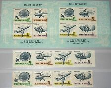 HUNGARY UNGARN 1967 2351-54 Block 59 A-B CB30ab Helicopter Airplane Flugzeug MNH