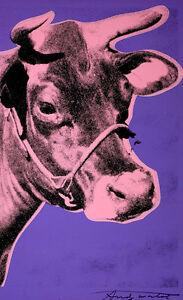 Cow-Andy Warhol High Quality Canvas Art Print A4