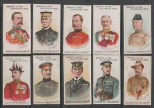 CIGARETTE CARDS S&Gluckstein 1901 Heroes of the Transvaal War - 10 cards