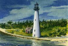 Cape Florida Lighthouse, Florida. Watercolor Notecards