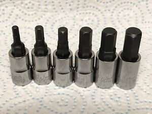 Blue Point 1/4 Dr HEX Allen Key BIT Socket set 3mm - 8mm sold by Snap On