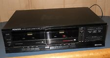 VINTAGE KENWOOD STEREO DOUBLE CASSETTE DECK KX-57W WORKS GOOD CLEAN RECORDER