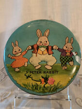 Vintage Tindeco Easter Peter Rabbit Lithographed Candy Tin