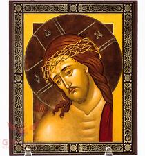 "Wooden Icon Our Lord Jesus Christ Savior Иисус Христос Спаситель 6.8 x 8.2"""