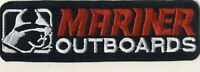 """Mariner Outboards Watercraft Boating 5"""" x 1.5"""" Velour Tab Iron On Patch"""