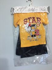 Toddler T Shirt With Short Two Colors Outfits Clothes Set Sizes (2-4) Years.
