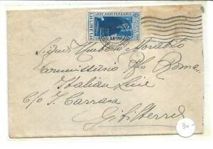 1934 BUSTA X GIBILTERRA CON PACINOTTI 1,25£ ISOLATO CHIUDILETTERA NEL RETRO