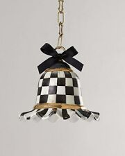 MacKenzie Childs Courtly Check Pendant Lamp Light With Cord Cover And Hardware