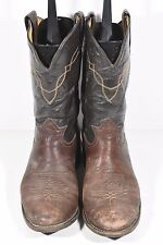 TONY LAMA MENS 9 EE STYLE 2032 BROWN BULLHIDE LEATHER COWBOY WESTERN BOOTS