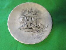 """Wendell August Forge Coaster Birdfeeder Birds 4.5"""" Metal"""