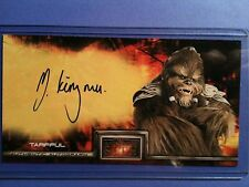 Star Wars Revenge of the Sith autograph card Michael Kingma - Tarfful