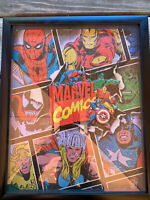 """MARVEL framed 3D Holographic shadow box picture The Marvel Avengers 15.5"""" long"""