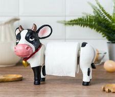 Cow Bathroom Toilet Roll Paper Holder Resin Statue Art Home Decoration Standing