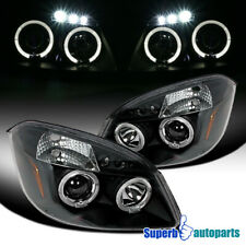 For 2005-2010 Cobalt/2007-2009 Pontiac G5 LED Halo Projector Headlights Black