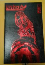 UNHOLY #1  Blood Red Leather  variant. Boundless  Comics