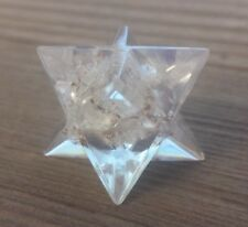 ORGONE CLEAR QUARTZ GEMSTONE MERKABA STAR ORGONITE