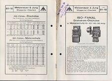 WUPPERTAL, Prospekt 1926, Elektro-Technik Metzenauer & Jung ISO-Fanal Dreh-Strom