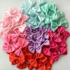 100PCS/lot Handmade colorful Kids Baby Girl bow DIY accessories bowknot(no clip)