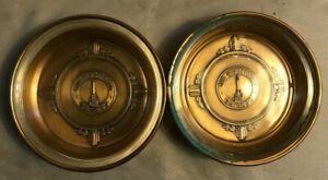 Brass/glass Bates & Klinke Inc, Attleboro Mass - The Watertower coaster/ashtray