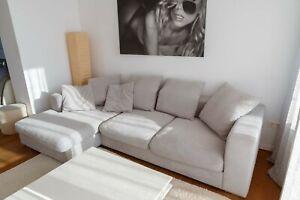 BoConcept CENOVA Sofa mit Ruhemodul, 3-5 Sitzer, silbergrau, sehr guter Zustand