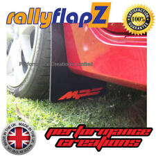 rallyflapZ to fit  MAZDA 3 MPS Mk1 Mud Flaps & Fixings Black Logo Red 4mm PVC