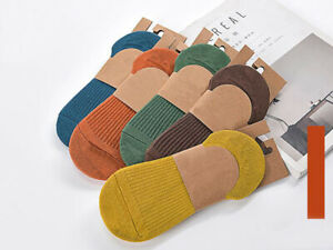 5 Pairs Women Invisible Non-slip Loafer Boat Ankle Low Cut Luxury Cotton Socks