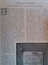 Crime Currency Forgery Begging Letter Writing Rare Old Antique Article 1894