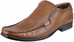 Base London CARNOUSTIE Mens Leather Slip-On Moccasin Loafers Shoes Waxy Tan 40EU