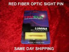 TRU GLOW ARCHERY RED FIBER OPTIC SIGHT PIN .029 DIA. 8-32  FREE 1 DAY  SHIPPING