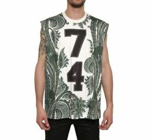 100% Auth Rare Givenchy Paisley Stars 74 Sleeveless T-shirt Tank Top XL~~