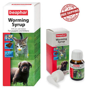 Beaphar Roundworm Puppy Kitten Pet Oral Wormer Treatment WORMING SYRUP 45ml