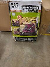 Pet Gear Expedition Pet dog cat Stroller - Capacity 150 lbs - Boysenberry