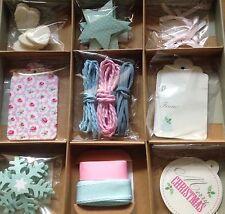 John Lewis Gift tag MYO label kit set baby boy girl ribbon felt hearts twine