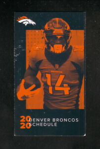 Denver Broncos--Courtland Sutton--2020 Pocket Schedule--Bud Light