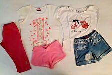 Lotto 5 pezzi abbigliamento t-shirt pantaloncini leggings bimba bambina 8 anni